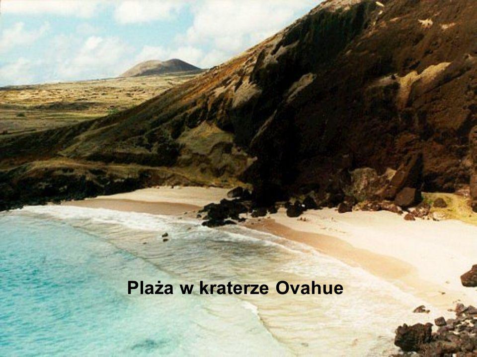 Plaża w kraterze Ovahue