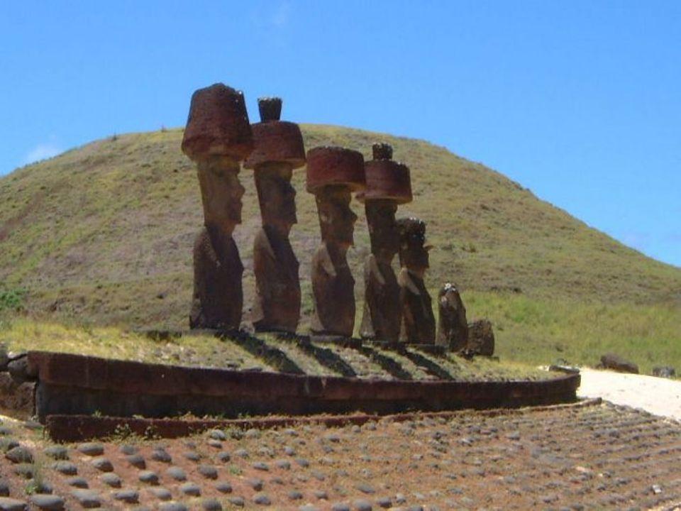 Posągi wykuwane były na stokach wulkanu Rano Raraku.