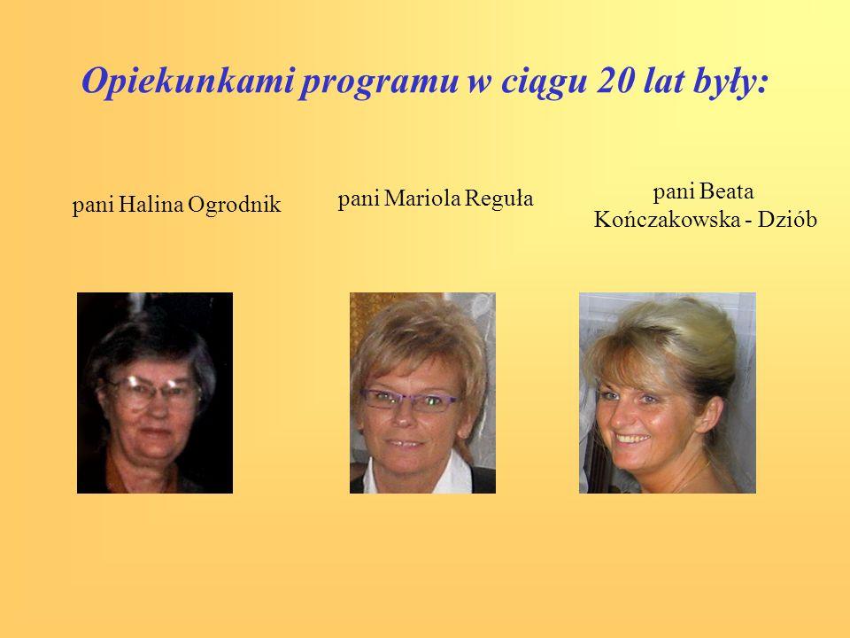Opiekunkami programu w ciągu 20 lat były: pani Halina Ogrodnik pani Beata Kończakowska - Dziób pani Mariola Reguła