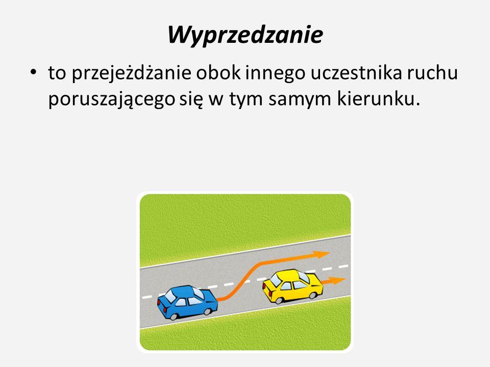 Zmiana kierunku jazdy i pasa ruchu Przy wykonywaniu manewrów wymijania, omijania, wyprzedzania oraz zmiany kierunku ruchu lub pasa ruchu nie wolno: – zajeżdżać drogi innym kierującym pojazdami, które są w ruchu – skręcać na skrzyżowaniu, na którym występują znaki zakazu skrętu lub nakazu jazdy w innym kierunku przez to skrzyżowanie – skręcać i jechać na wprost z pasa ruchu, na którym jest to zabronione – zawracać i jechać w przeciwnym kierunku na jezdni jednokierunkowej – zmieniać pas ruchu bez uprzedniego upewnienia się i zasygnalizowania