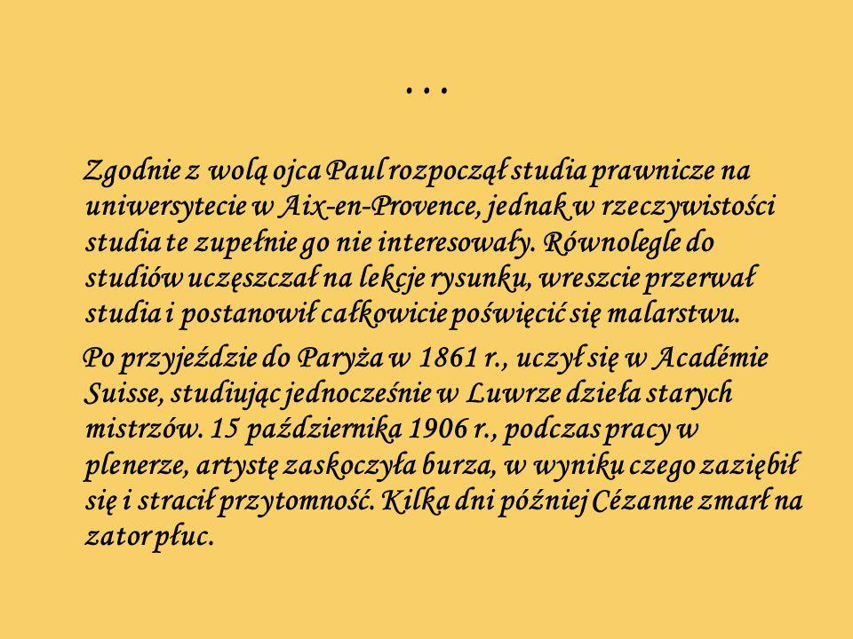 … Zgodnie z wolą ojca Paul rozpoczął studia prawnicze na uniwersytecie w Aix-en-Provence, jednak w rzeczywistości studia te zupełnie go nie interesowa