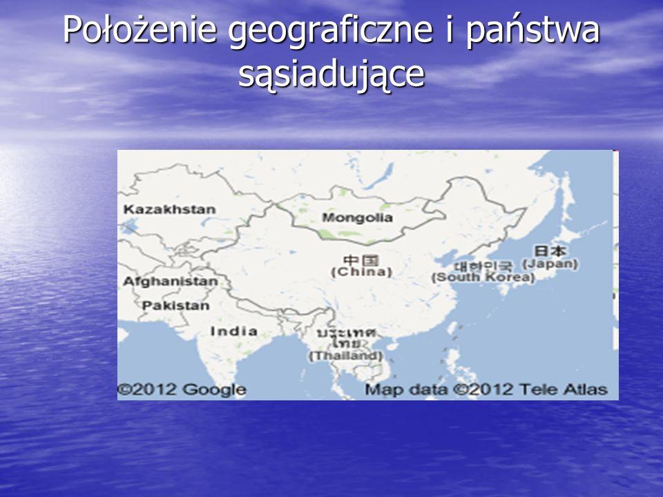 Państwa sąsiadujące ChRL graniczy z następującymi państwami: ChRL graniczy z następującymi państwami: Afganistan, Bhutan, Birma, Indie, Kazachstan, Kirgistan, Korea Północna, Laos, Mongolia, Nepal, Pakistan, Rosja, Tadżykistan, Wietnam Afganistan, Bhutan, Birma, Indie, Kazachstan, Kirgistan, Korea Północna, Laos, Mongolia, Nepal, Pakistan, Rosja, Tadżykistan, Wietnam