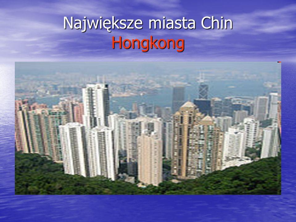 Największe miasta Chin Hongkong