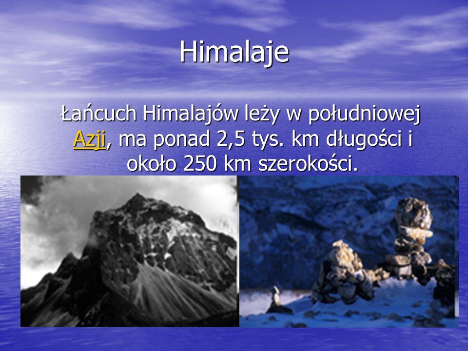 Najwyższy szczyt Mount Everest 8848 m n.p.m
