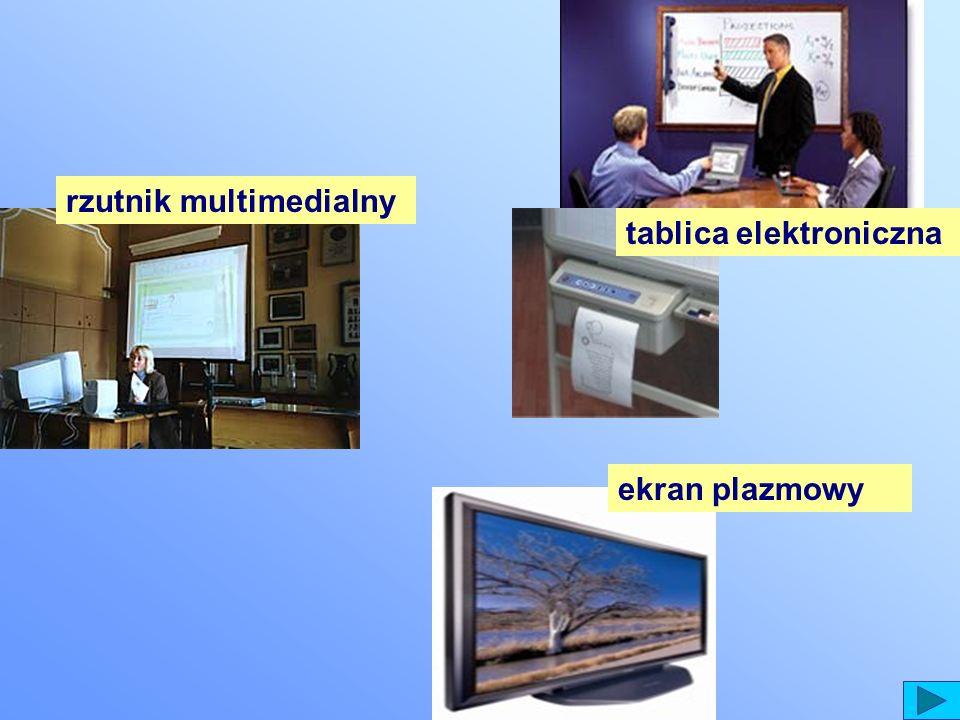 rzutnik multimedialny ekran plazmowy tablica elektroniczna