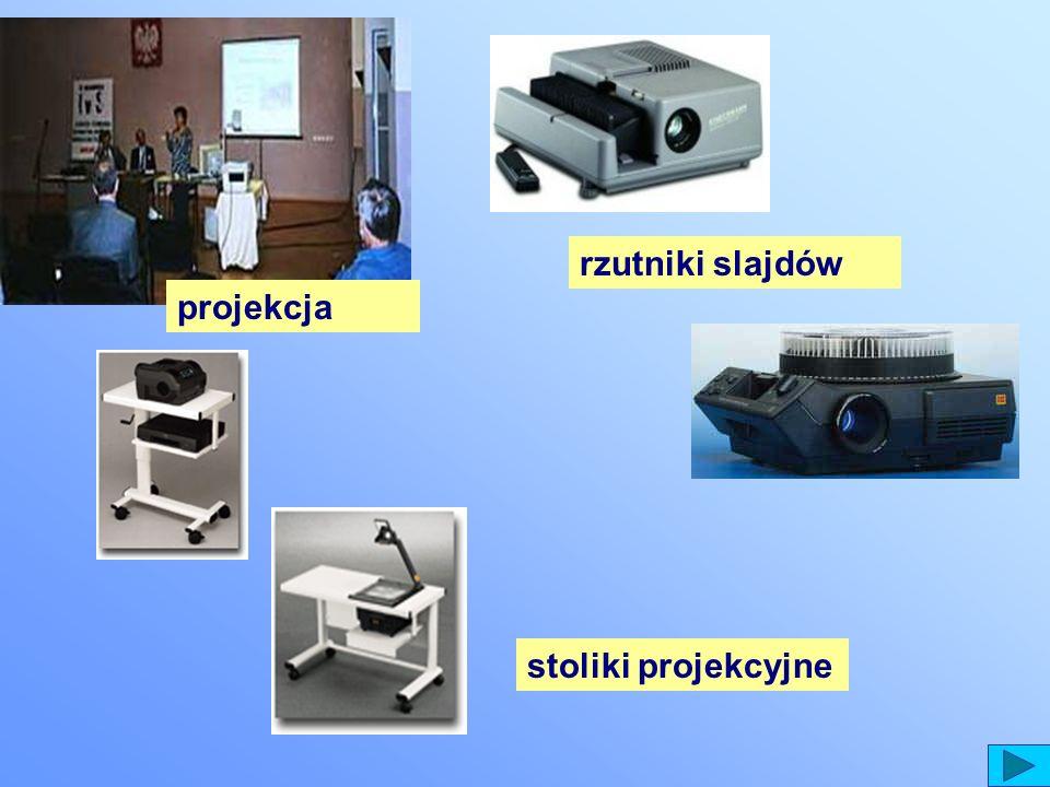 stoliki projekcyjne rzutniki slajdów projekcja