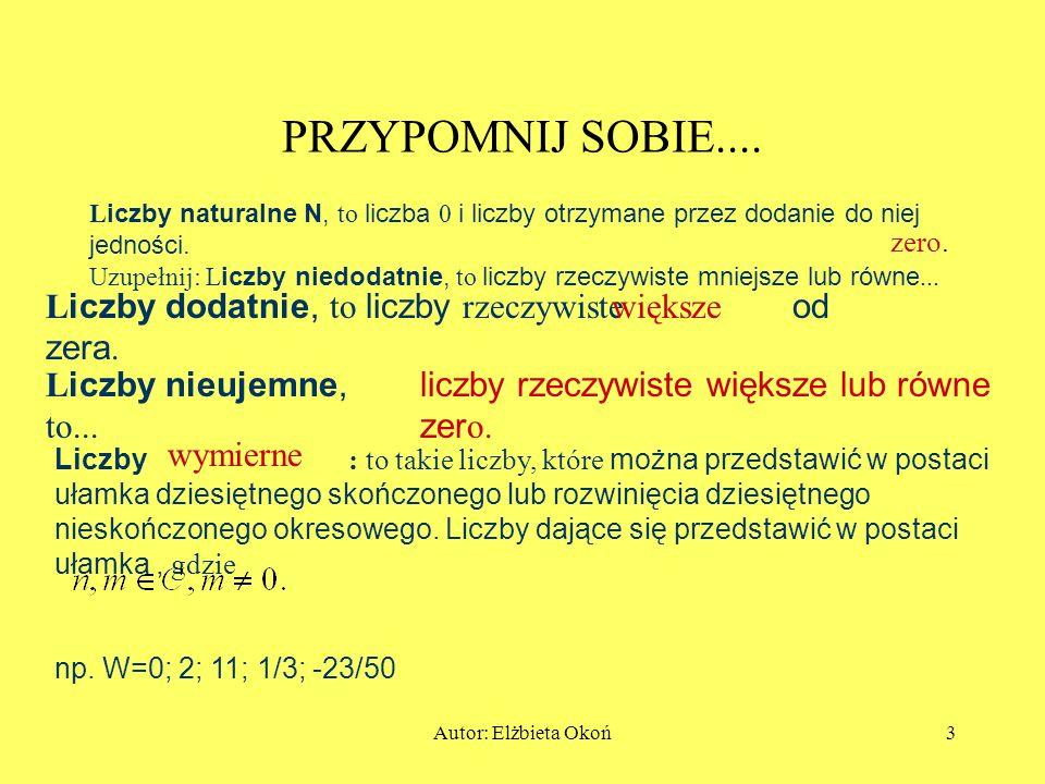 Autor: Elżbieta Okoń3 PRZYPOMNIJ SOBIE....