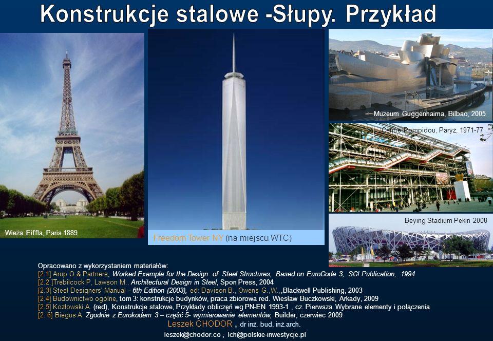 Leszek CHODOR, dr inż. bud, inż.arch. leszek@chodor.co ; lch@polskie-inwestycje.pl Opracowano z wykorzystaniem materiałów: [2.1] Arup O & Partners, Wo
