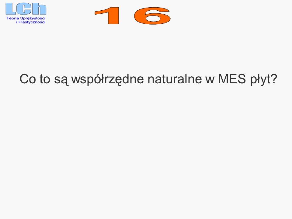 Co to są współrzędne naturalne w MES płyt?