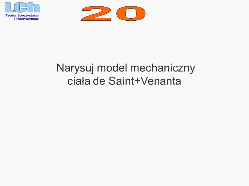 Narysuj model mechaniczny ciała de Saint+Venanta
