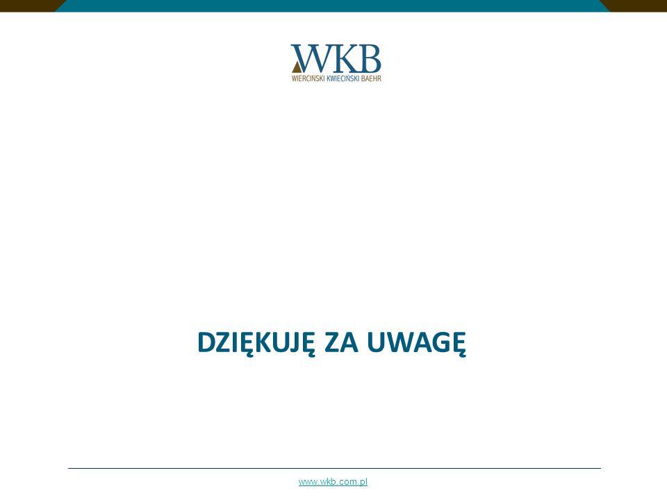 www.wkb.com.pl DZIĘKUJĘ ZA UWAGĘ