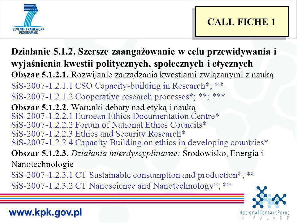 Działanie 5.1.2. Szersze zaangażowanie w celu przewidywania i wyjaśnienia kwestii politycznych, społecznych i etycznych Obszar 5.1.2.1. Rozwijanie zar