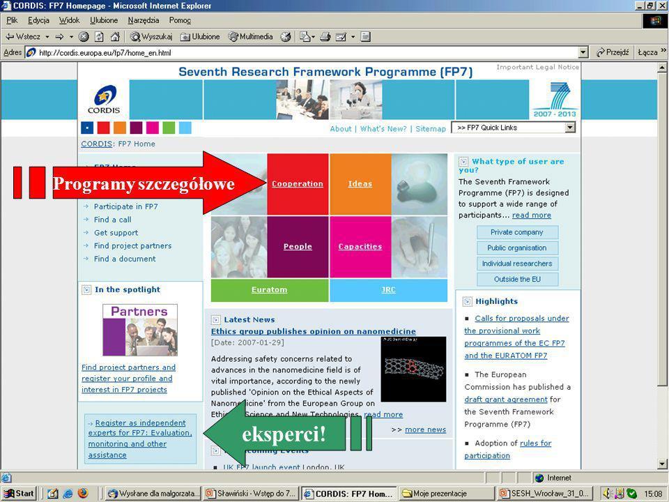 www.kpk.gov.pl Programy szczegółowe eksperci!