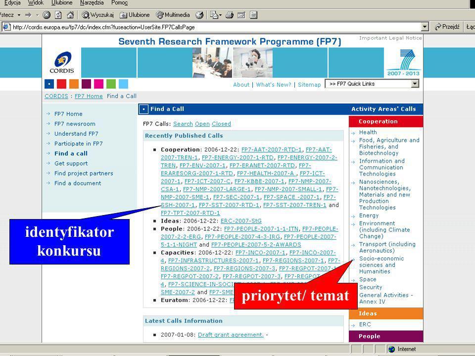 www.kpk.gov.pl priorytet/ temat identyfikator konkursu