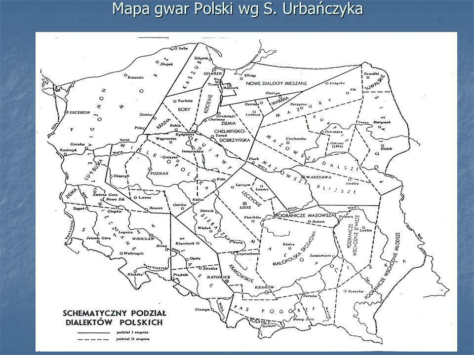 Podział dialektów i gwar polskich Kryteria podziału (dotychczas głównie fonetyczne – mazurzenie i fonetyka międzywyrazowa, w małym stopniu leksykalne).