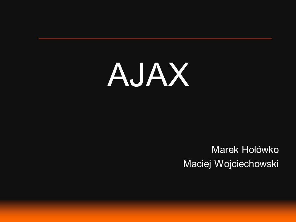 AJAX – Plan Prezentacji 1.Co oznacza AJAX.