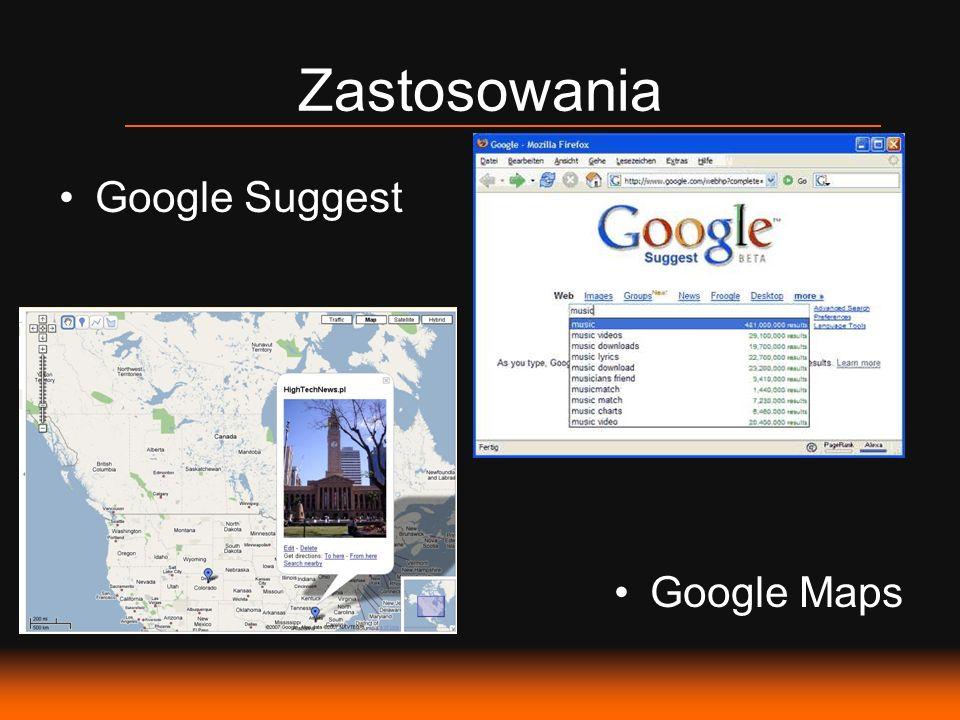 Google Suggest Google Maps Zastosowania