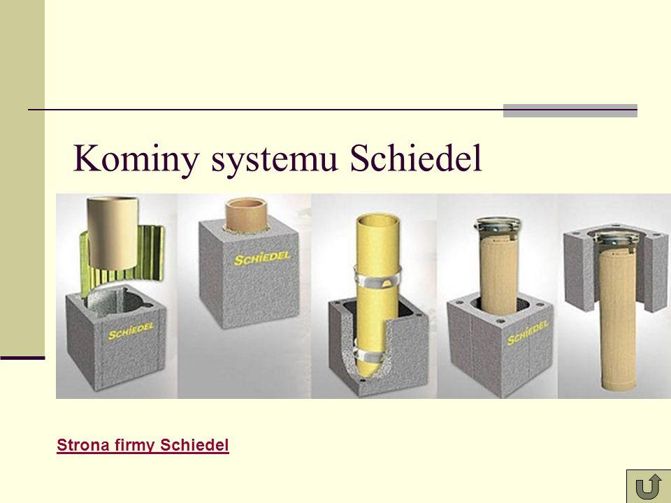 Kominy systemu Schiedel Strona firmy Schiedel
