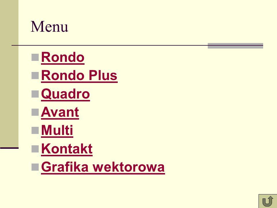Menu Rondo Rondo Plus Quadro Avant Multi Kontakt Grafika wektorowa