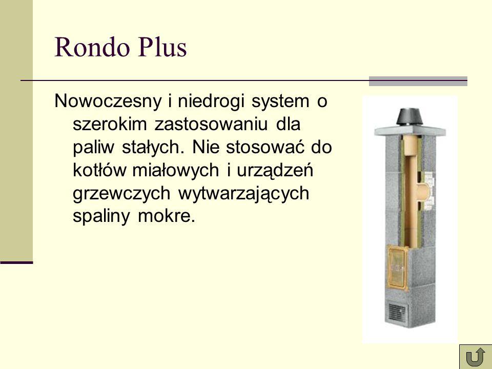 Rondo Plus Nowoczesny i niedrogi system o szerokim zastosowaniu dla paliw stałych. Nie stosować do kotłów miałowych i urządzeń grzewczych wytwarzający