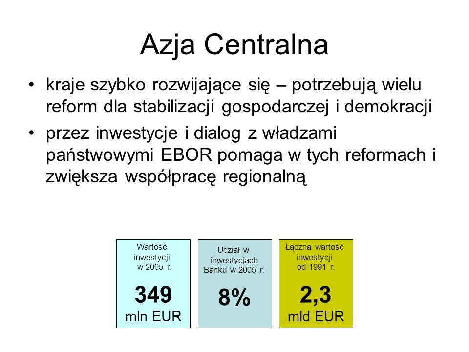 Azja Centralna kraje szybko rozwijające się – potrzebują wielu reform dla stabilizacji gospodarczej i demokracji przez inwestycje i dialog z władzami