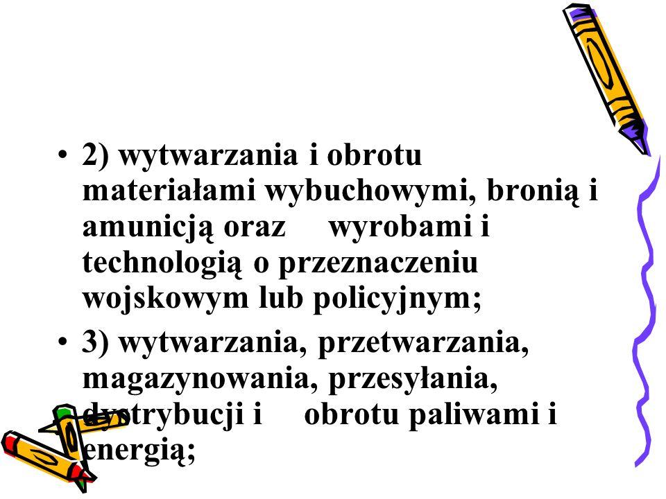 4) ochrony osób i mienia; 5) rozpowszechniania programów radiowych i telewizyjnych; 6) przewozów lotniczych.