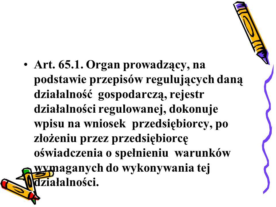 Art.66.1. Rejestr działalności regulowanej jest jawny.