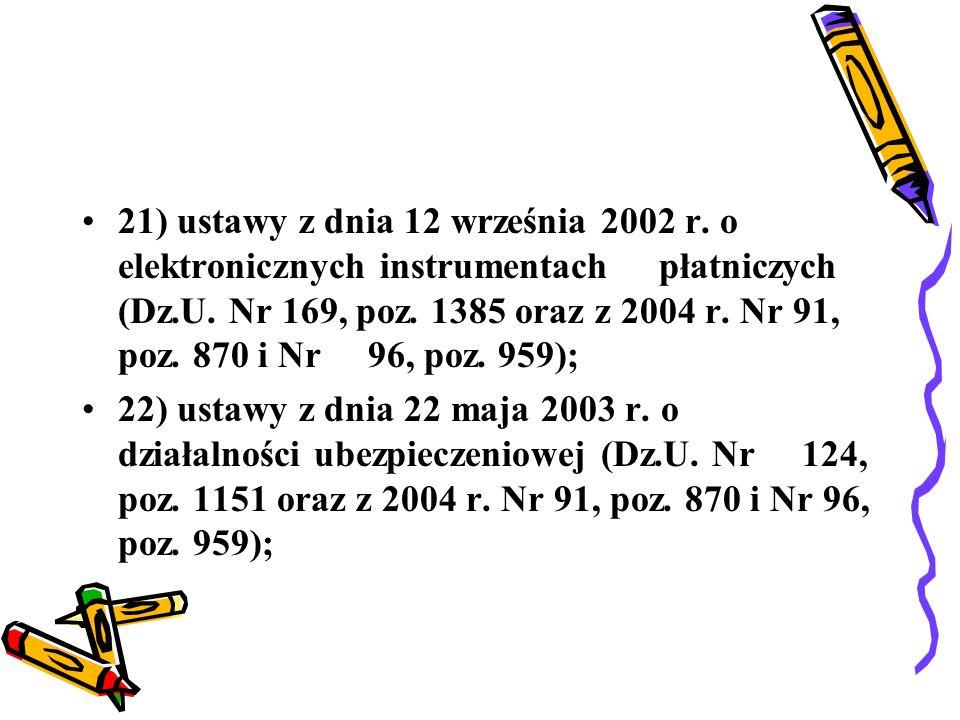 23) ustawy z dnia 22 maja 2003 r.o pośrednictwie ubezpieczeniowym (Dz.U.
