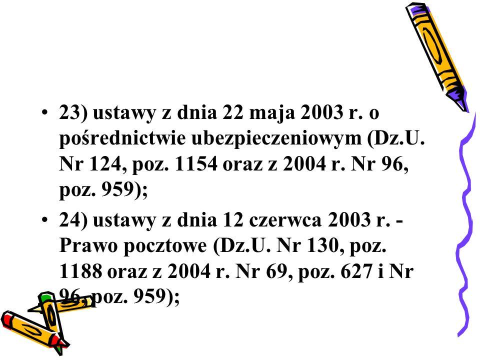 25) ustawy z dnia 23 stycznia 2004 r.o podatku akcyzowym (Dz.U.