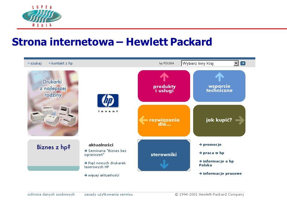 Strona internetowa – Hewlett Packard