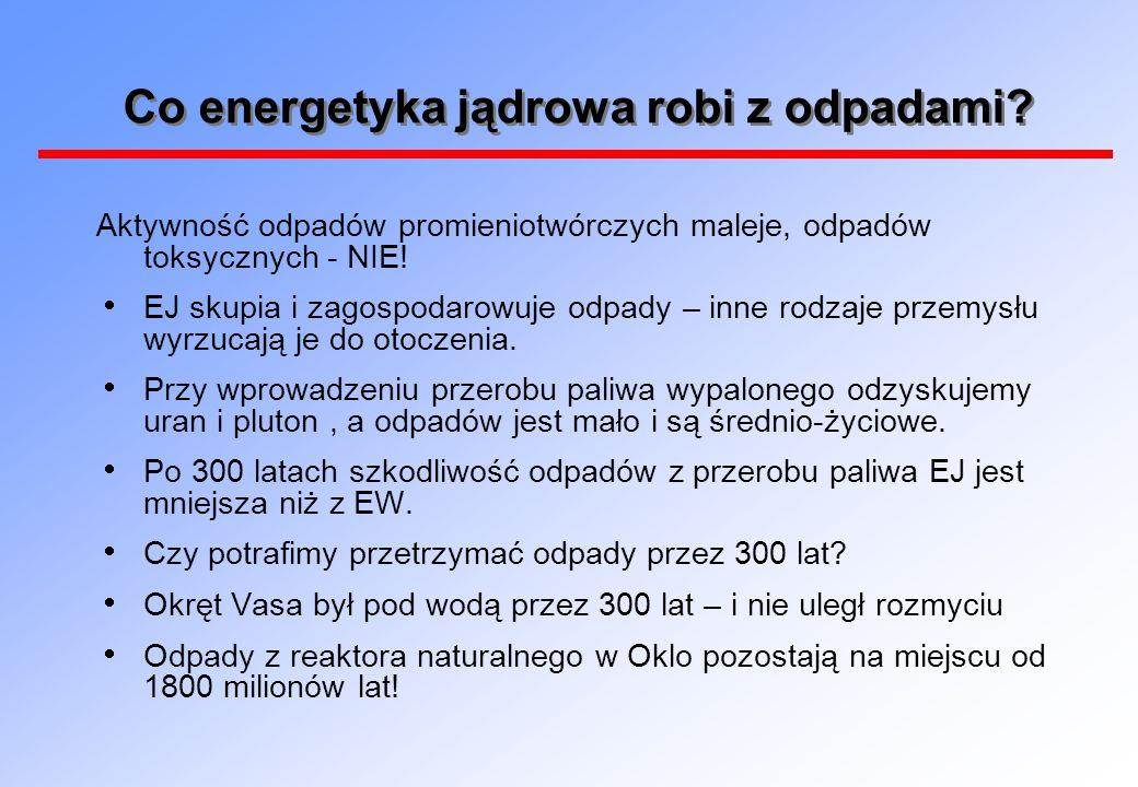Co energetyka jądrowa robi z odpadami? Aktywność odpadów promieniotwórczych maleje, odpadów toksycznych - NIE! EJ skupia i zagospodarowuje odpady – in