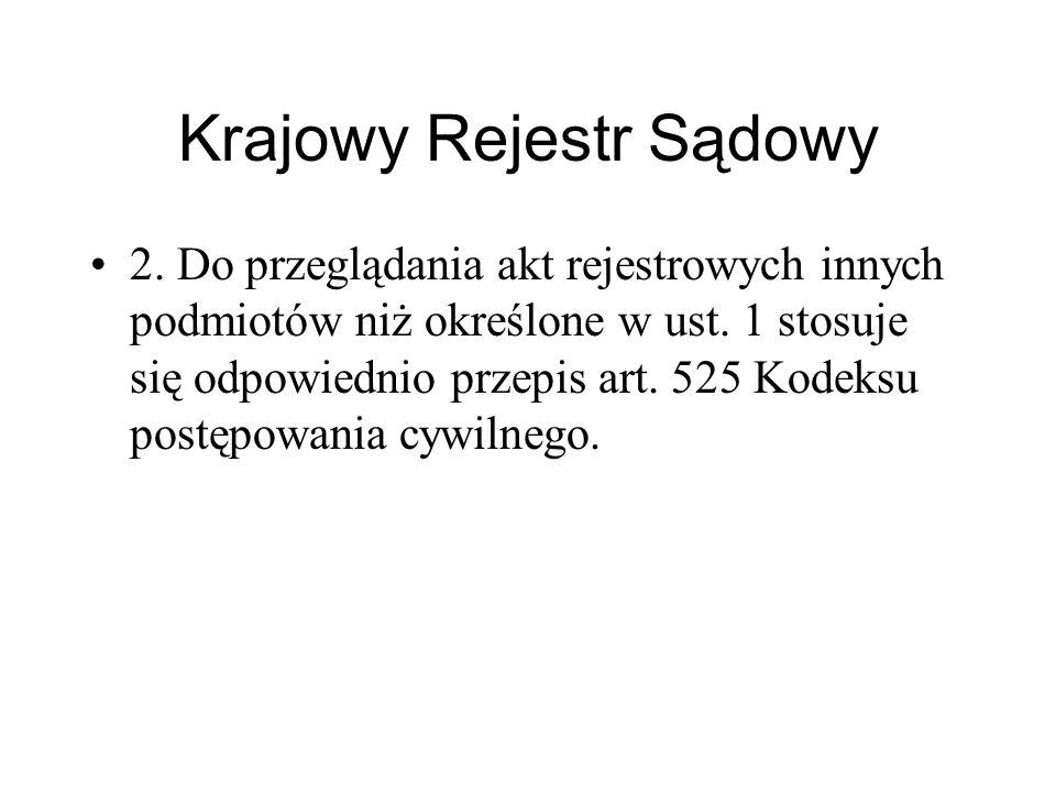 Krajowy Rejestr Sądowy Art.525.