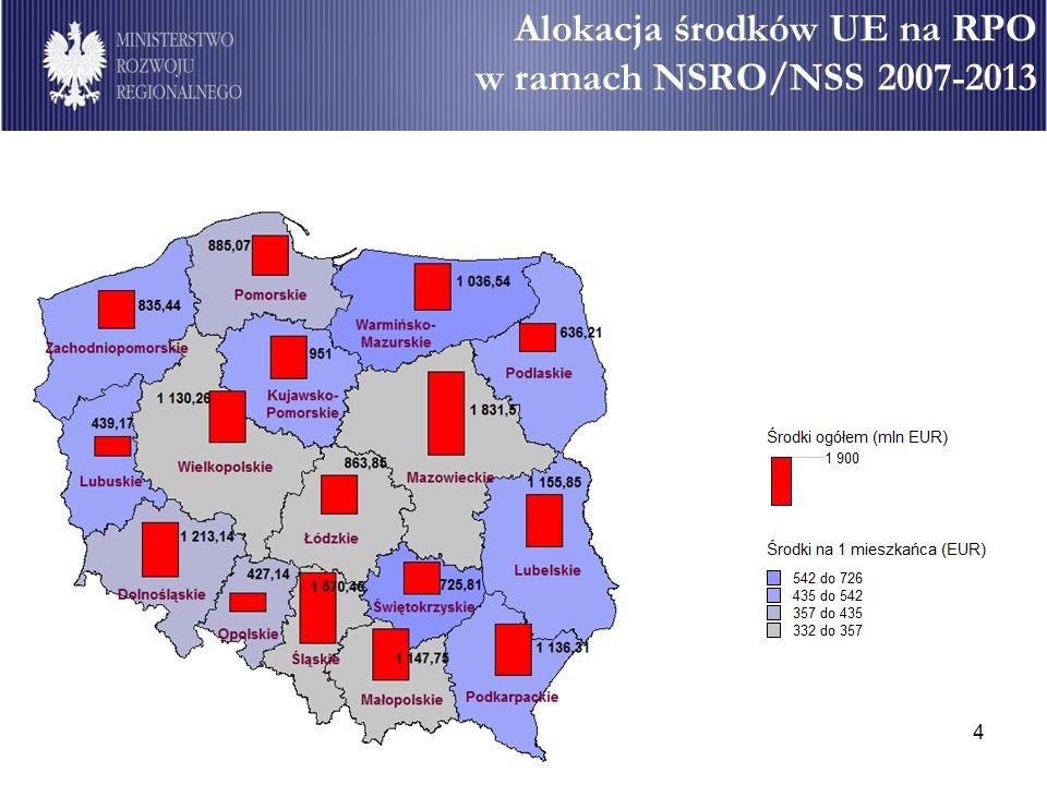 4 Alokacja środków UE na RPO w ramach NSRO/NSS 2007-2013