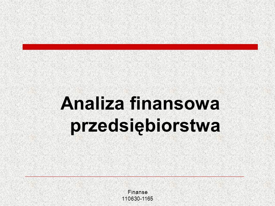 Analiza finansowa przedsiębiorstwa Finanse 110630-1165
