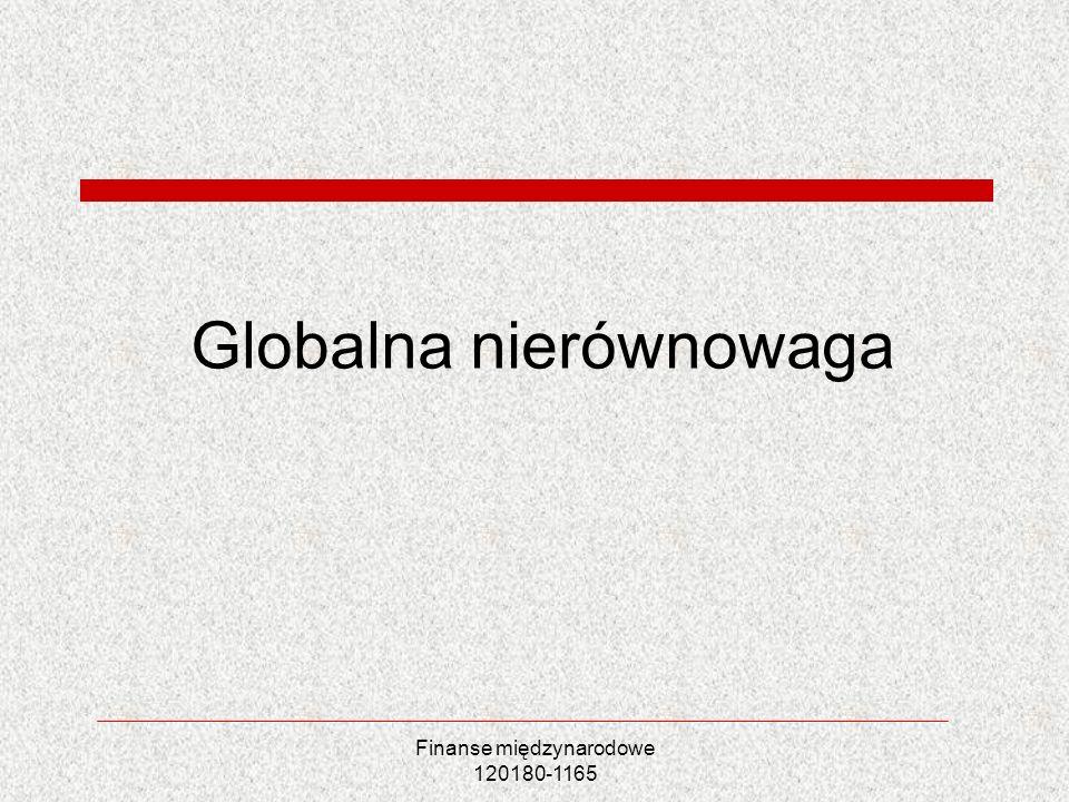 Finanse międzynarodowe 120180-1165 Globalna nierównowaga
