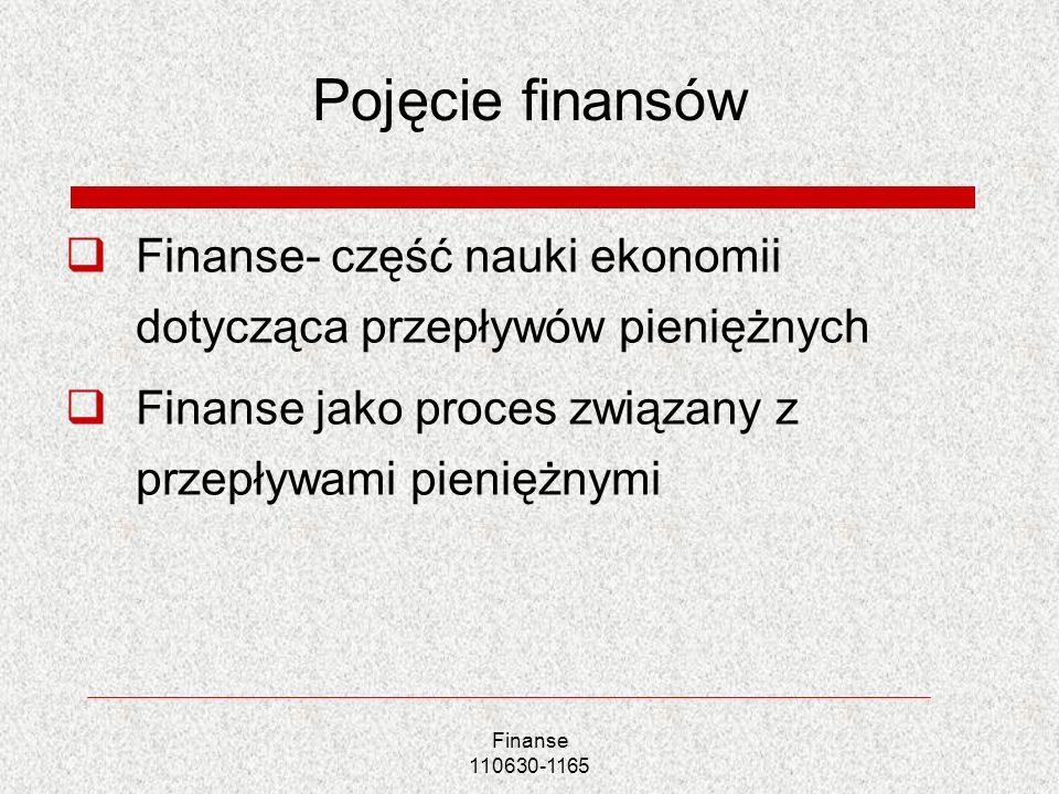 Finanse 110630-1165 Zjawiska finansowe a zjawiska pieniężne Zjawiska finansowe- związane z przepływem środków pieniężnych pomiędzy poszczególnymi podmiotami Każde zjawisko finansowe jest zjawiskiem pieniężnym, nie każde zjawisko pieniężne jest zjawiskiem finansowym