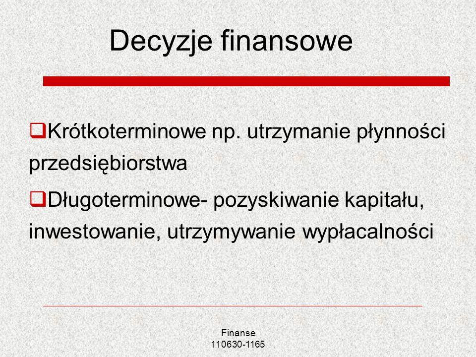 Przykłady kapitału pozabilansowego Finansowanie warunkowe- kapitał jest wykorzystany w przypadku zaistnienia konkretnych warunków np.