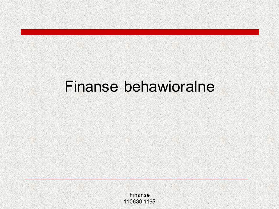 Finanse behawioralne Finanse 110630-1165