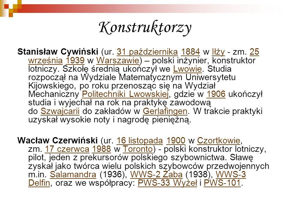 Konstruktorzy Stanisław Cywiński (ur. 31 października 1884 w Iłży - zm. 25 września 1939 w Warszawie) – polski inżynier, konstruktor lotniczy. Szkołę