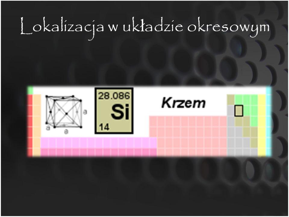Budowa atomu Grupa 4 Okres 3 Masa atomowa: 28,0855 Liczba atomowa: 14 Liczba neutronów: 14 Liczba protonów: 14 stopień utlenienia: – zazwyczaj +IV – wyjątkowo +II