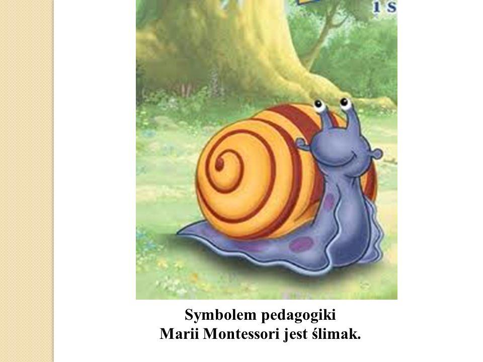 Symbolem pedagogiki Marii Montessori jest ślimak.
