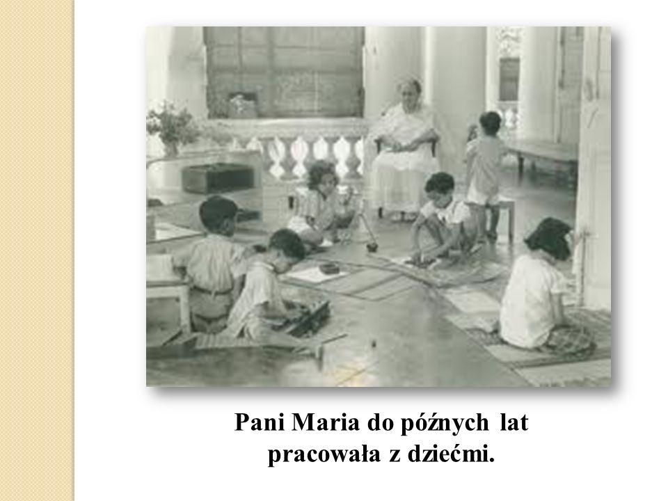 Pani Maria do późnych lat pracowała z dziećmi.