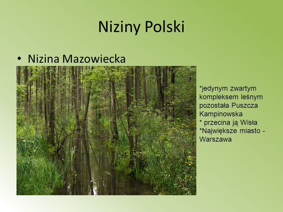 Chojnowski Park Krajobrazowy park krajobrazowy leżący na Równinie Warszawskiej i skraju Doliny Środkowej Wisły.