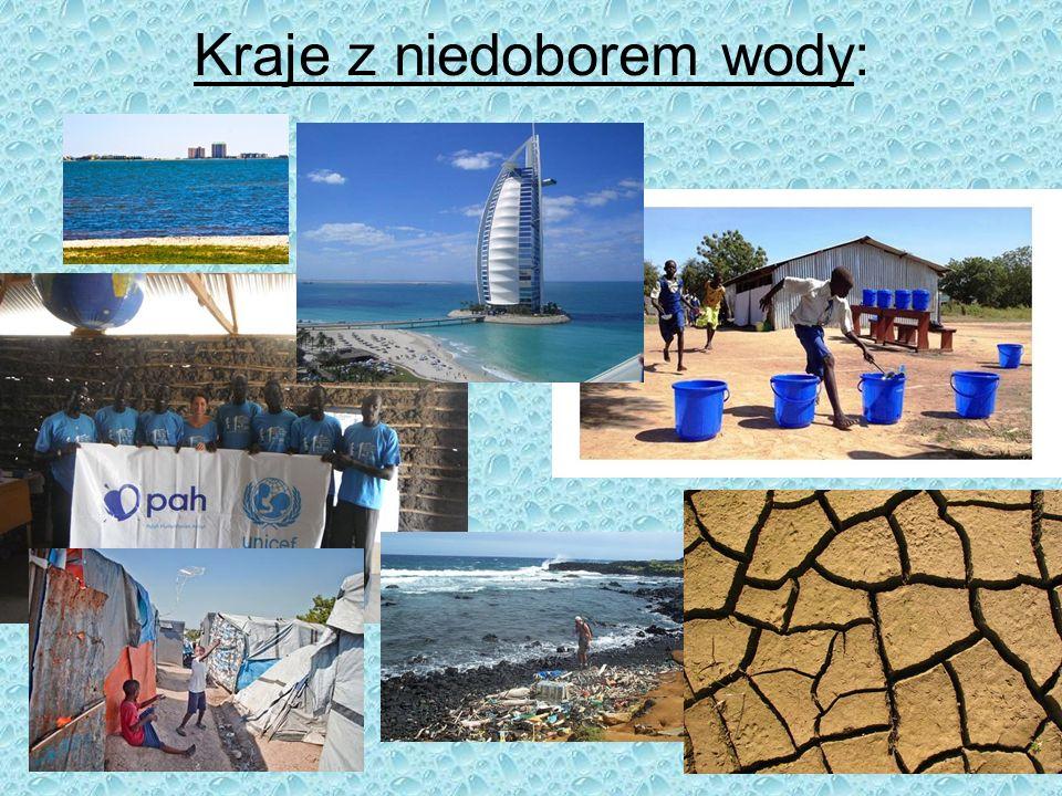 Kraje z niedoborem wody: