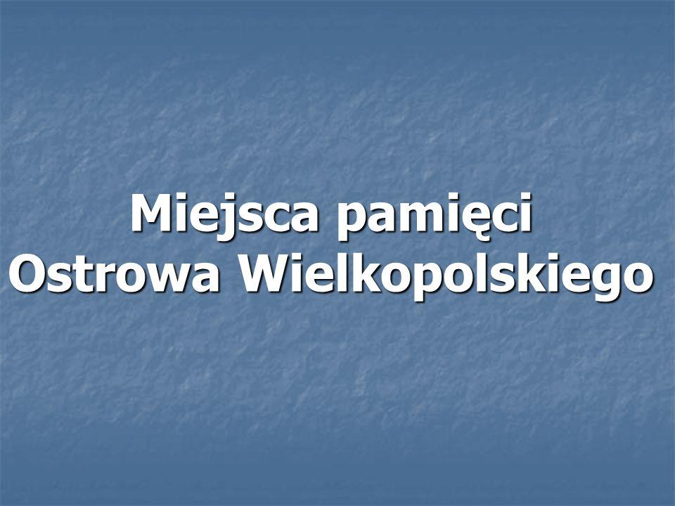 Miejsce pamięci powstało w 1979 roku w 40 rocznicę wybuchu II Wojny Światowej ze społecznej inicjatywy mieszkańców Ostrowa Wielkopolskiego.