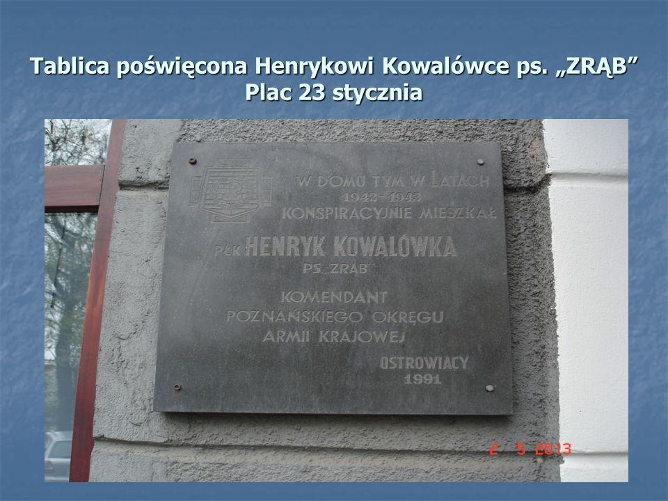 Tablica została ufundowana przez mieszkańców Ostrowa Wielkopolskiego.