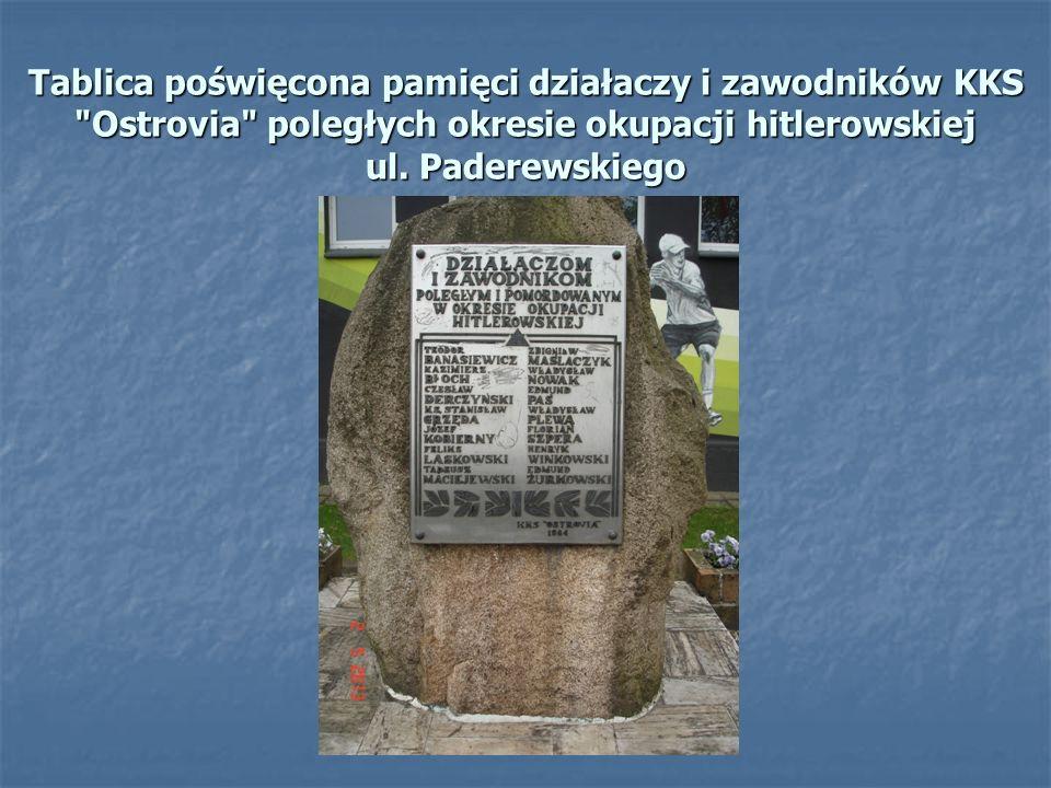 Tablica poświęcona pamięci działaczy i zawodników KKS
