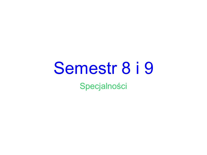 Semestr 8 i 9 Specjalności