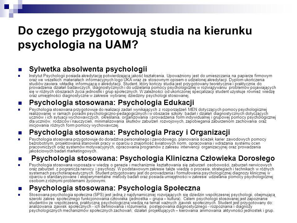 Do czego przygotowują studia na kierunku psychologia na UAM.