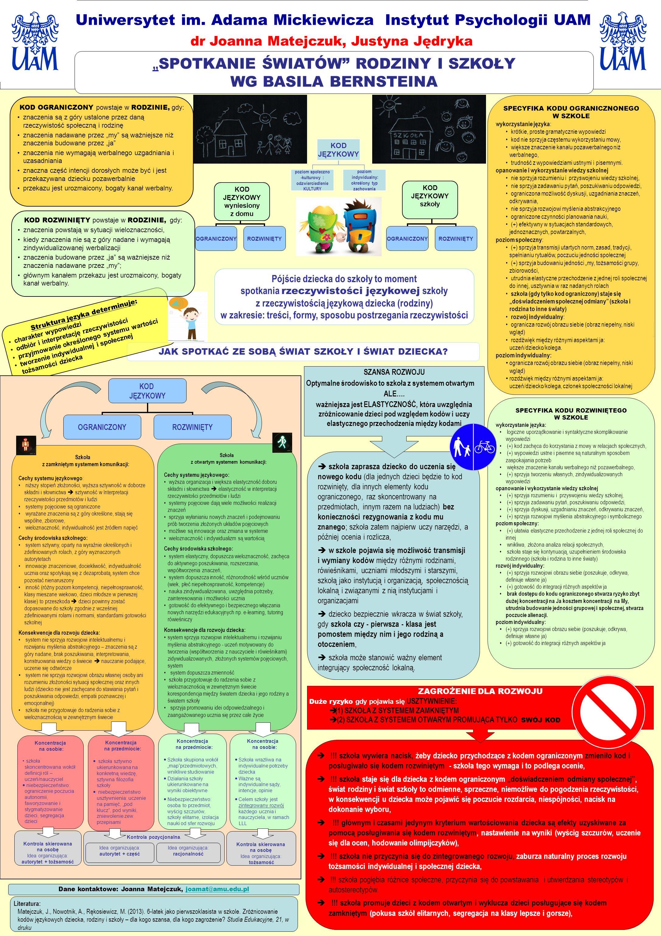 !!! szkoła wywiera nacisk, żeby dziecko przychodzące z kodem ograniczonym zmieniło kod i posługiwało się kodem rozwiniętym - szkoła tego wymaga i to p